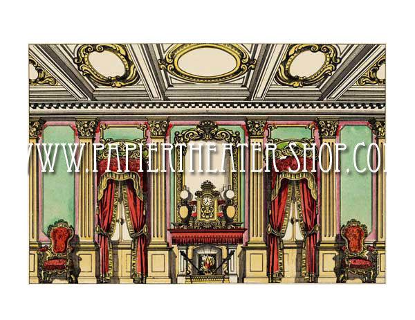Wohnzimmer bilder fr hintergrund  Wohnzimmer - Hintergrund (Nr. 1556). - Multum in Parvo Papiertheater