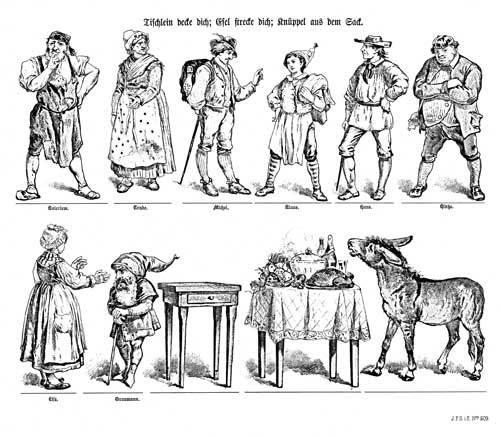 Tischlein Deck Dich Esel Streck Dich Und Knüppel Aus Dem Sack