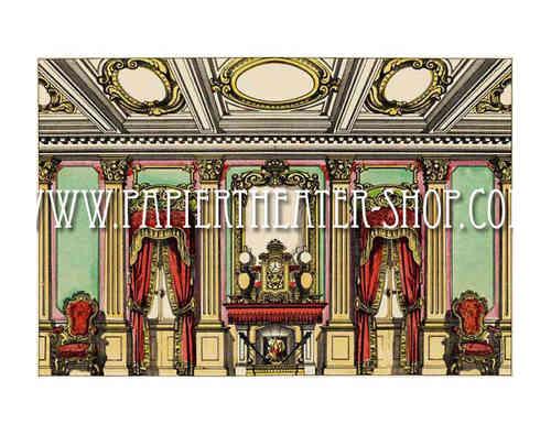 Wohnzimmer - Hintergrund (Nr. 1556). - Multum in Parvo Papiertheater