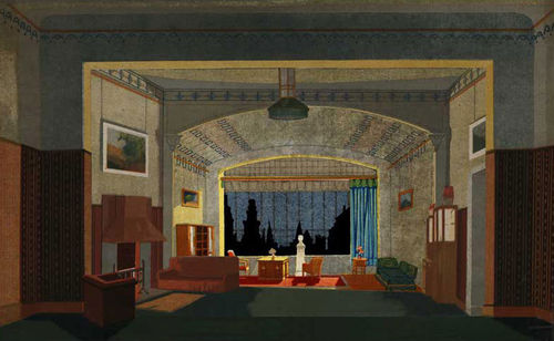 Wohnzimmer - Hintergrund, 3 Durchsichten und 1 transparenter Bogen ...